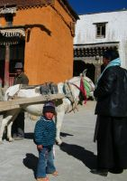 Boy in Gyantse, Tibet by hardwayjackson