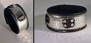 wide, silver collar by leatherforfun