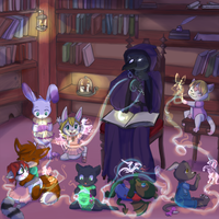 Library magic by toddlergirl