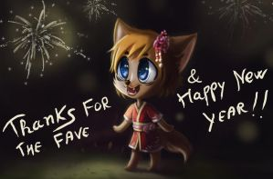 Thanks and happy new year image by Athena-av