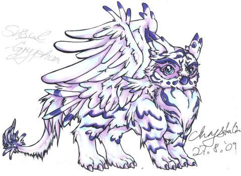 SnOwl -Gryphon , another one.. by Kazelyn