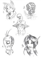 More Artist's Oc faces by gear25