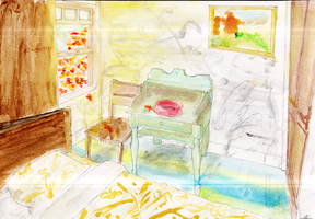 [School Work]The Bedroom of Georges Perec by KhoryuMyu