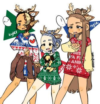 Ugly sweaters by milkcactus