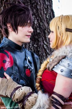 Hiccup and Astrid -1- by NekoHibaPC