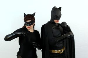 Catwoman and Batman by AngelValiant