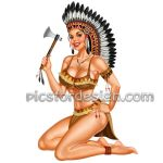 Indian girl pin-up by rzhevskii