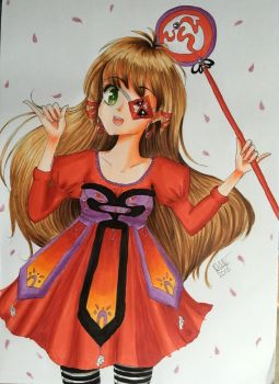 Magical Girl in red by lotjenya1