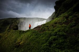 Iceland - Above Skogafoss II by CID228
