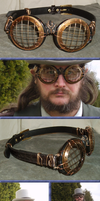 Steampunk Storm Goggles by Windthin