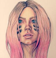 Pink Dip Dye by IDoNothingWithMyLife