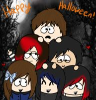 Happy Halloween From Us All by Kitsuna020