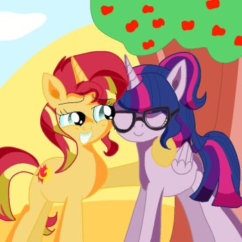 Pony Sunset Shimmer and Sci Twilight Are Besties by DoraemonFan4Life