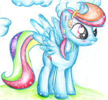 rainbow dash crystal pony by XxsilvixX