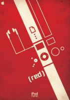 iPod -red- Complete Poster by dementeddesign