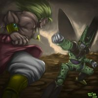 Cell vs Broly by zerodarknova