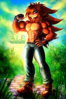 Cale the Hedghog ~Verdant Sunrise~ by Guardian-Beast