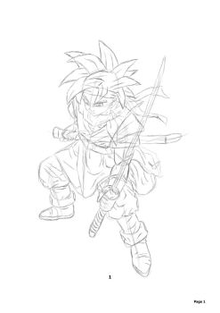Crono Sketch - Detail Added by UltimateIfrit