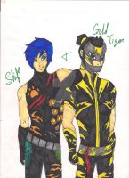 Shift and Gold Tiger by JackieWinters