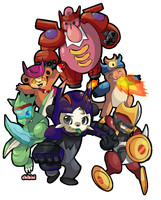 Big Hero 6 Pokemon version by Chibixi