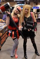 Misa Amane and Harley Quin by SovietMentality