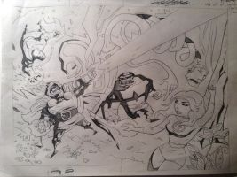 FF VS DD early pencil sketch by soliton