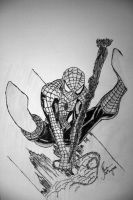 Your friendly spiderman by ujmaverick