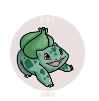 001 Bulbasaur by ojwo