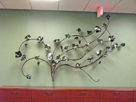 Grape Wall Panel Sculpture by ou8nrtist2