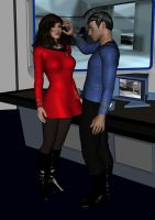 Commander Coryn VAISSE and MR SPOCK OPEN YOUR MIND by EcorynV