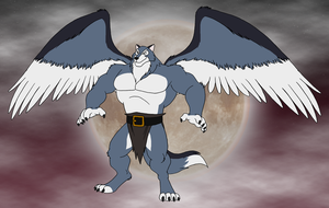 Thundara the Wolf Gargoyle by BennytheBeast