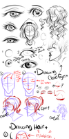 Hair and Eye Tutorial + References by Quantum-Kiff
