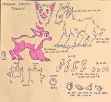 (OLD REF SHEET) Original Species - Faugriff by MGMaguire
