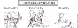 Kazran's Holiday Calender by caycowa