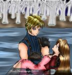 Cloud Lays Aeris to Rest by SassyLilPanda