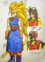 Pan - Teen, The Great Saiyawoman, Super Saiyan 3 by JAM4077