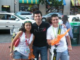 Me and Cade with Casey Hudson by FieryHeaven
