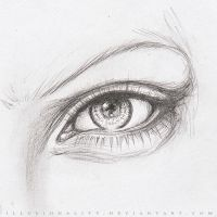 EYE - Pencil VII by illusionality