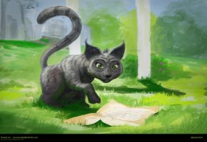it cant be, cats don't read maps or signs by JesusAConde