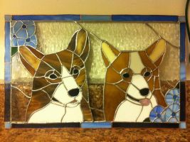 Corgi Glass- WIP by teameggytoast