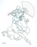 Mai Shiranui by Mike Miller by integralsmatic