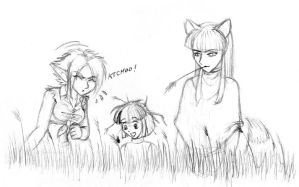Demons in the grass by merrypaws