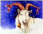 The Yule Goat by ImaginaryKarin