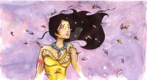 Pocahontas Watercolors by icanhazcuteness