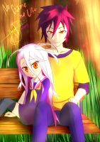 No Game No Life Sora and Shiro by rjay07