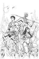 John Carter: Warlord of Mars # 1 Variant Cover by malsuni