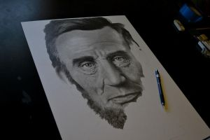 LINCOLN drawing WIP by graphitemyers