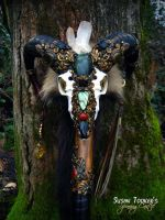 The Sacred Ram Skull Staff by SpinningCastle