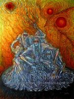 Los tres soles - Three suns by DEGillustration