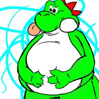 Art Trade Fat Yoshi by jack07